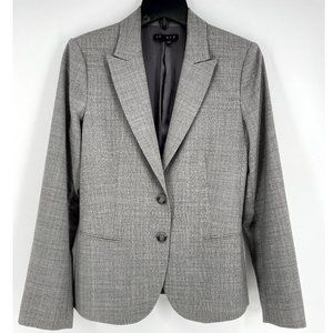 THEORY Grey 2-Button Front Blazer Wool Blend~8